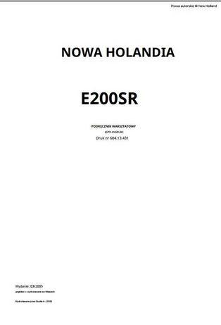 Podręcznik warsztatowy New Holland E 200 SR PL