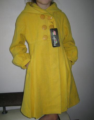 Шикарное весеннее пальто для девочки 8-9 лет