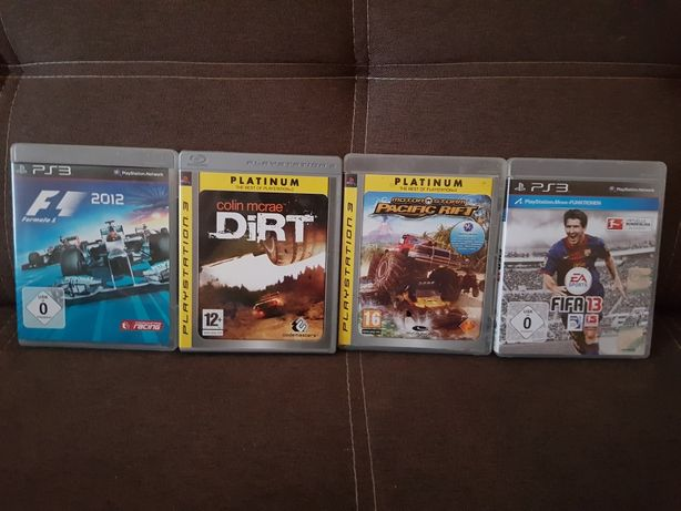 Gry na ps3. F1, Dirt,  Pacific , FIFA.