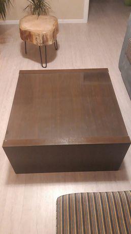 Stolik kawowy z szybą Ikea