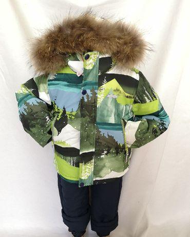 Новый зимний раздельный костюм,зеленый.
