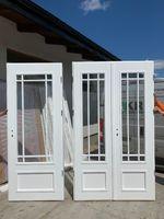 Drzwi drewniane wewnętrzne dwuskrzydłowe białe FRANCUSKIE KRIS