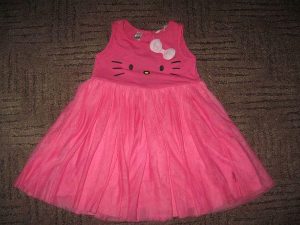 H&m sukienka CIEMNY RÓŻ Z TIULEM HELLO KITTY roz 116 śliczna JEDYNA!!!