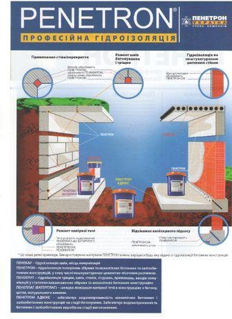 Проникаюча гідроізоляція ПЕНЕТРОН