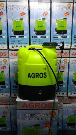 Обприскувач Агрос Agros 16л елекричний опрыскиватель оприскувач