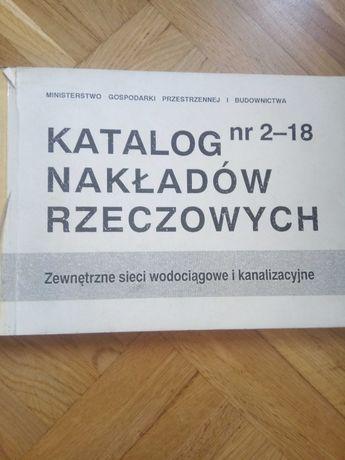 Katalog nakładów rzeczowych, zewnętrzne sieci wodociągowe i...