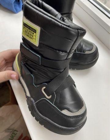 Ботинки зимние на мальчика 27 размер