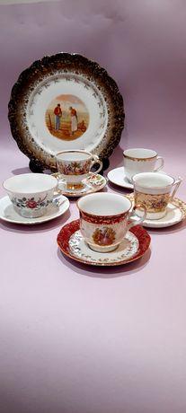 WYPRZEDAŻ!!! Stara sygnowana porcelana Filiżanki Retro Vintage