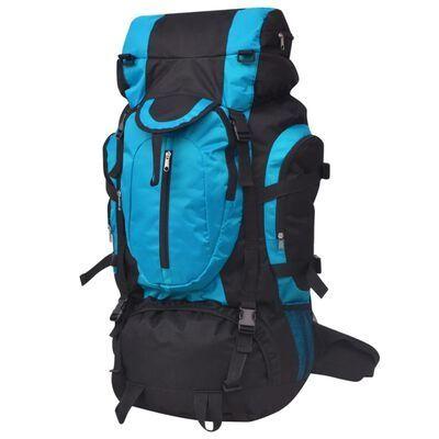 NOVO - Mochila de caminhada XXL 75 L preto e azul
