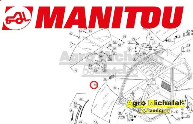 Szyba czołowa gięta Manitou org MRT1850, 2150, MRT2540,