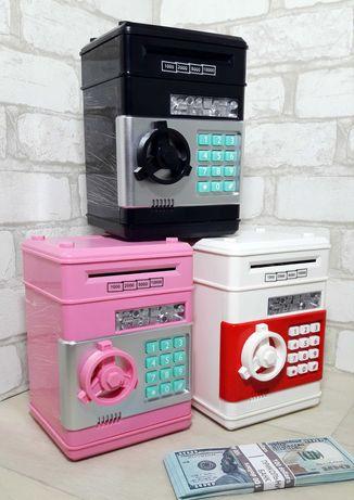 Детская электронная сейф-копилка. Детский банкомат/сейф
