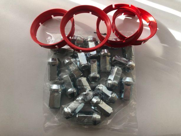Zestaw montażowy Opel Insignia Nakrętki 14x1,5 pierścienie 72,6 67,1