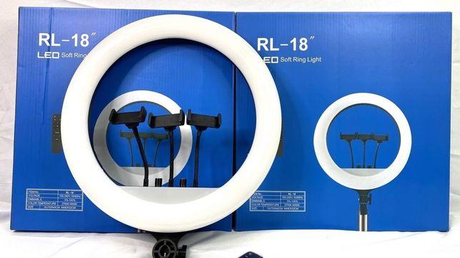 Кольцевая лампа LED RL-18 45 см со штативом.Светодиодная лампа.