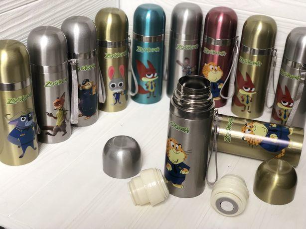 Термос детский, термокружка, термочашка с героями 350 мл