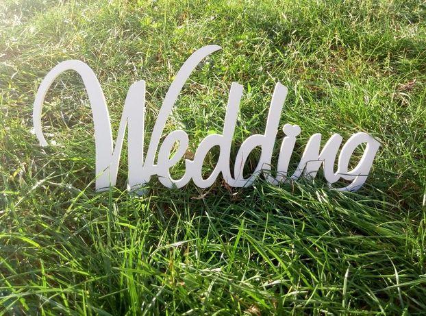 Lirety do dekoracji, wesele, ślub, napis