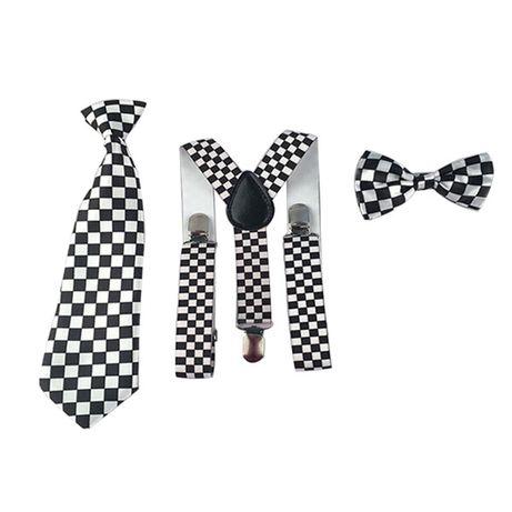 ZESTAW: szelki,muszka i krawat dla dzieci
