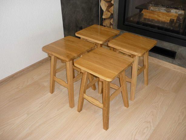 Taborety dębowe, taboret lite drewno, stołki, bardzo solidne