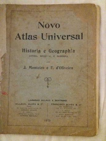 Novo Atlas Universal de Hist. E geografia de J. Monteiro 1920