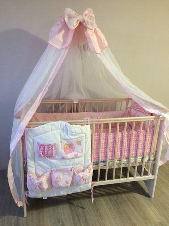 Кроватка детская из натурального дерева