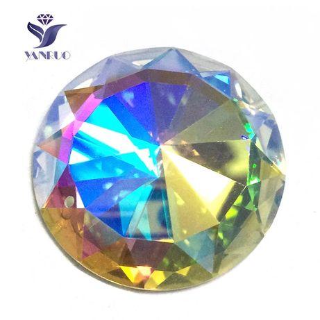 Kaboszony AB 15 sztuk okrągłe kryształ szkło 20 mm