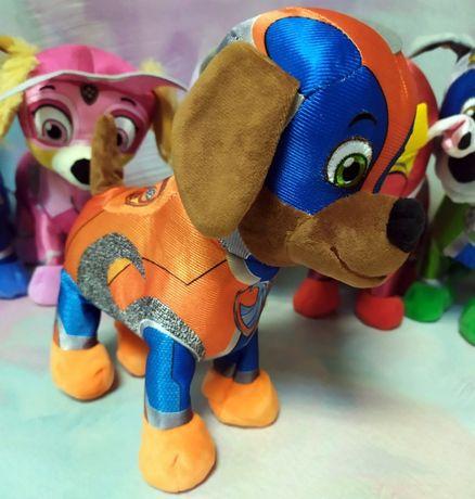 Мягкая игрушка собачка интерактивная Щенячий патруль ходит, звук