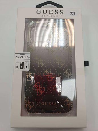 Etui GUESS iPhone 12 / 12 Pro GUHCP12MPCU4GGBK