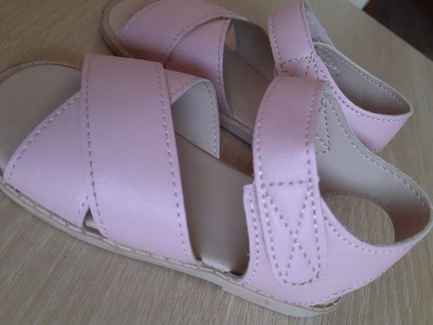 Sandaly sandalki h&m nowe lato 22 różowe