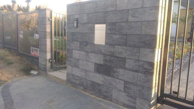 Ogrodzenia, siatka, panel, pustak, cegła