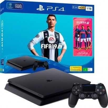 SONY - Consola PS4 1TB + Jogos + 2 Comandos