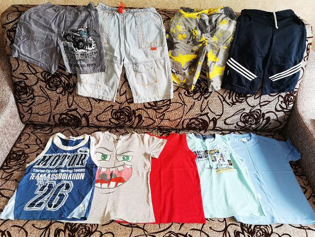 Комплект набор летней одежды шорты футболка майка мальчику 110-116-122