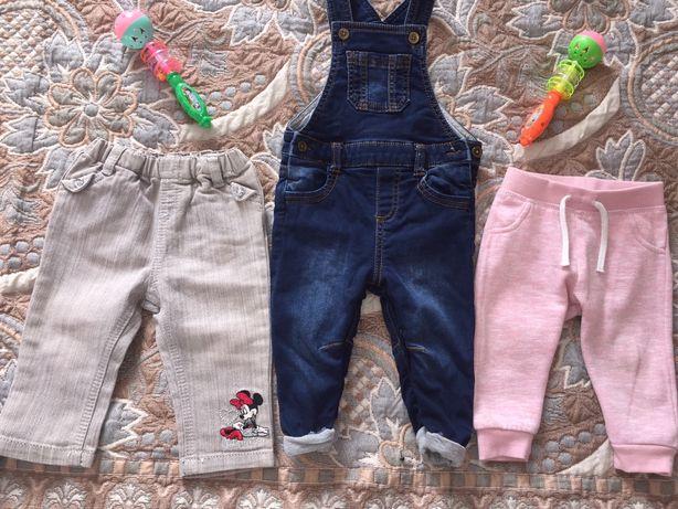 Штанішки, штанці, джинси 6-9м