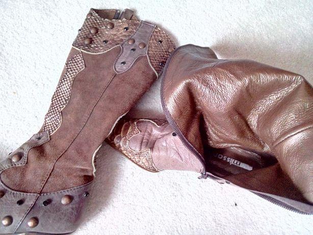 Botas texanas de pele marca Missanga tamanho 35