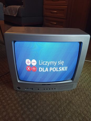 Telewizor 14'' JVC Kineskopowy szary.