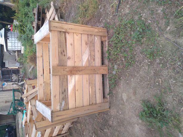 Skrzyniopalety drewniane, skrzynie