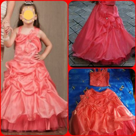 Платье бальное нарядное для выпускного в детском саду, праздника р.128