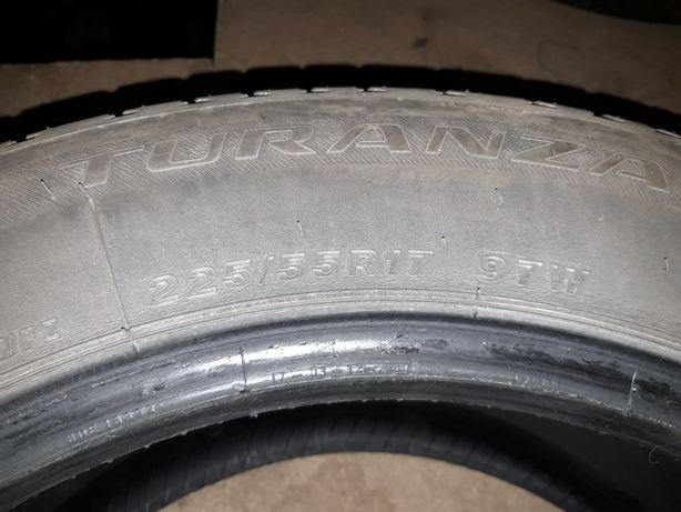 4x opony letnie Bridgestone Turanza 225/55/17 97W rok 2017 4-4.5mm