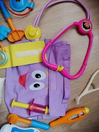 Набор доктора медицинский детский от Маттел Mattel в сумочке + подарок
