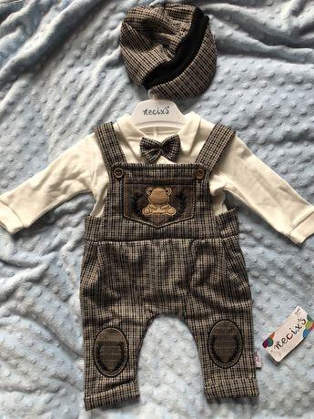 Стильный , нарядный костюмчик на 0-3 месяца