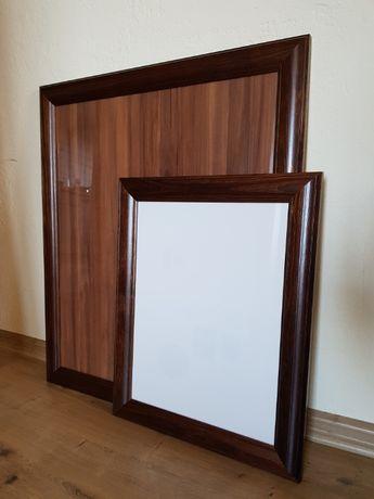 Rama drewniana, sosnowa, ramka, szkło 30x40 cm, brązowa