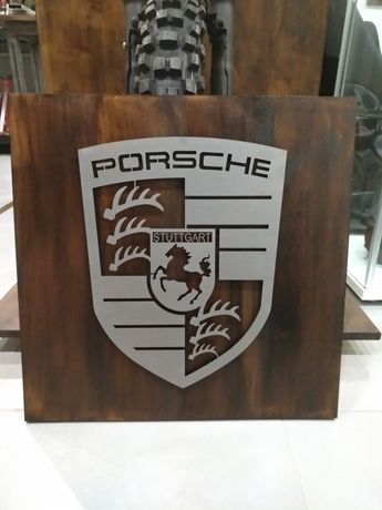 Placa decorativa alusiva Porsche