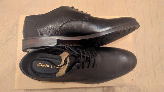 Мужские кожаные туфли Clarks Flow Plain