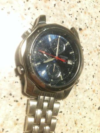 Часы Citizen alarm chronograph wr 100 GN-4W-S водонепроницаемые