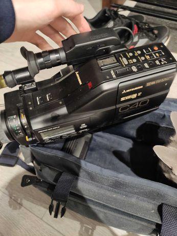 Kamera Mitsubishi C40E na kasety VHS + pokrowiec