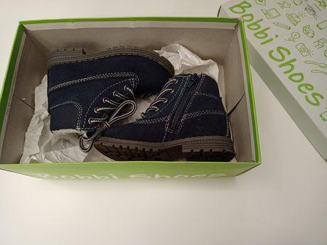 Buty buciki nowe Bobbi Shoes ocieplane rozm. 21