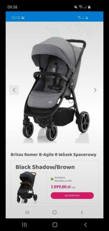Spacerówka Britax&Romer B Agile R Elephant Grey Black!MOŻLIWA Wysyłka!