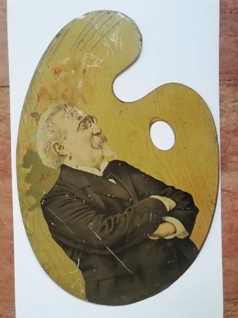 Chapa metalica antiga com Manuel Arriaga