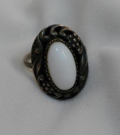 Кольцо с камнем Колечко из мельхиора Времен СССР Винтажное