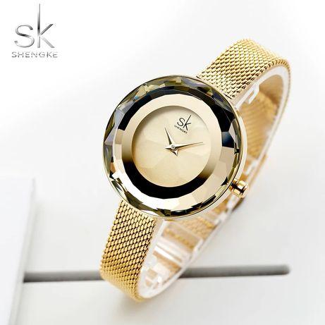 Nowy zegarek damski złoty kryształ Z007 !