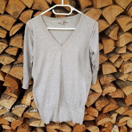 Zestaw pakiet 3 swetry szary różowy fioletowy sweter kardigan M/L
