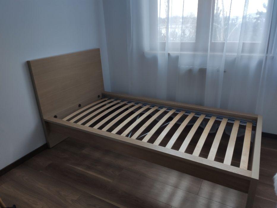 Łóżko IKEA MALM 90x200 dąb bejcowany na biało +gratis dno łóżka LURÖY Wrocław - image 1